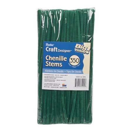 Chenille Stems - 6mm - Emerald - Big Value - 350 pieces