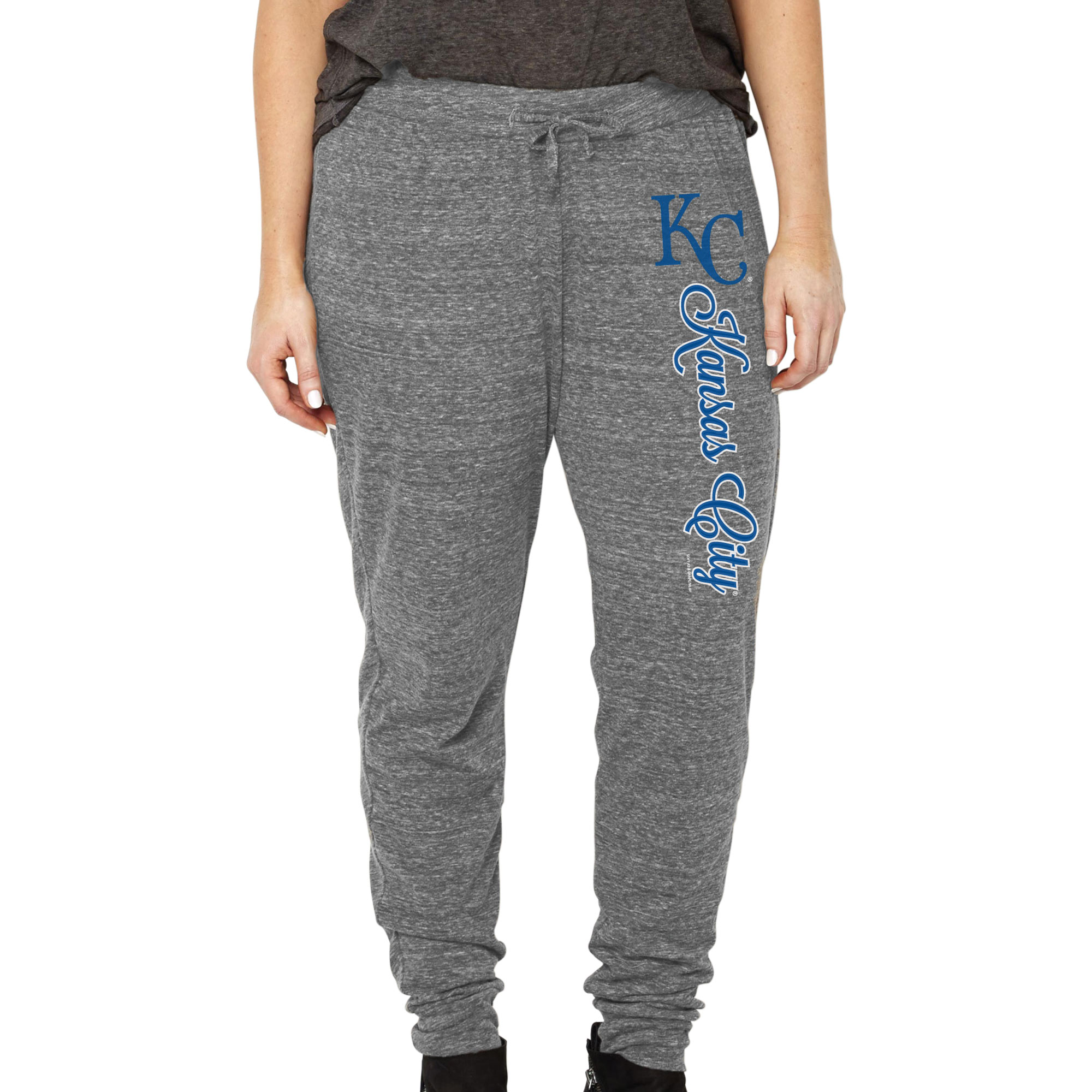 Kansas City Royals Soft as a Grape Women's Plus Size Jogger Pants - Heathered Gray