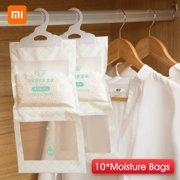 Youpin UJ Hanging Wardrobe Moisture Bag Closet Cabinet Wardrobe Dehumidifier Drying Agent Hygroscopic -Mold Desiccant Bags 10Pcs