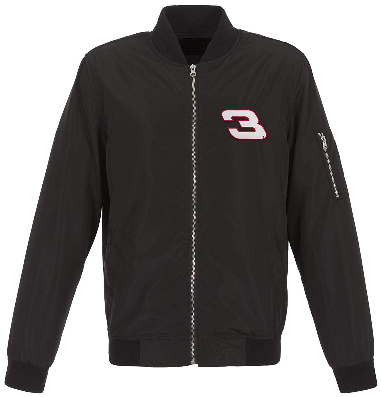 JH Design Group Mens Nascar Dale Earnhardt Sr Retro Lightweight Zip-Up Nylon Jacket Knit Trim