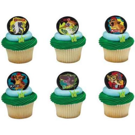 12 Lion Guard Cupcake Cake Rings Birthday Party Favors Toppers
