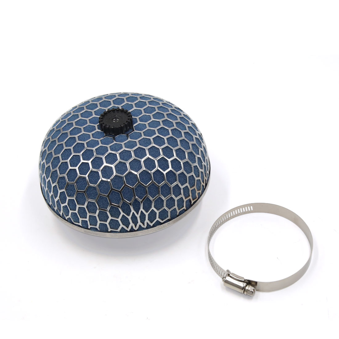 Blue 75mm Inlet Dia. Air Intake Filter Cleaner w Adjustable Clamp for Car Vehicle - image 3 of 3