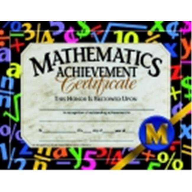 Hayes 8.5 x 11 in. Math Achievement Certificate, Pack 30