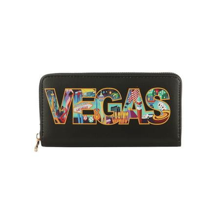 Vegas Coin - Vinyl Clutch Wallet Purple Coin Pocket Vegas Bag Accessory