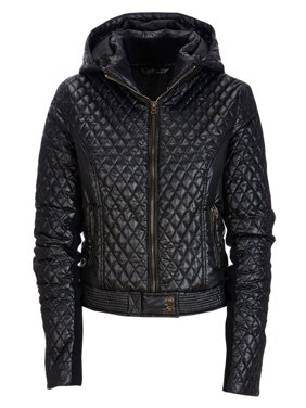 Aeropostale Womens Hooded Moto Bomber Jacket