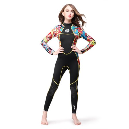 3mm Full Body Women Neoprene Wetsuit Color Diving Snorkeling Swimming Water Sport