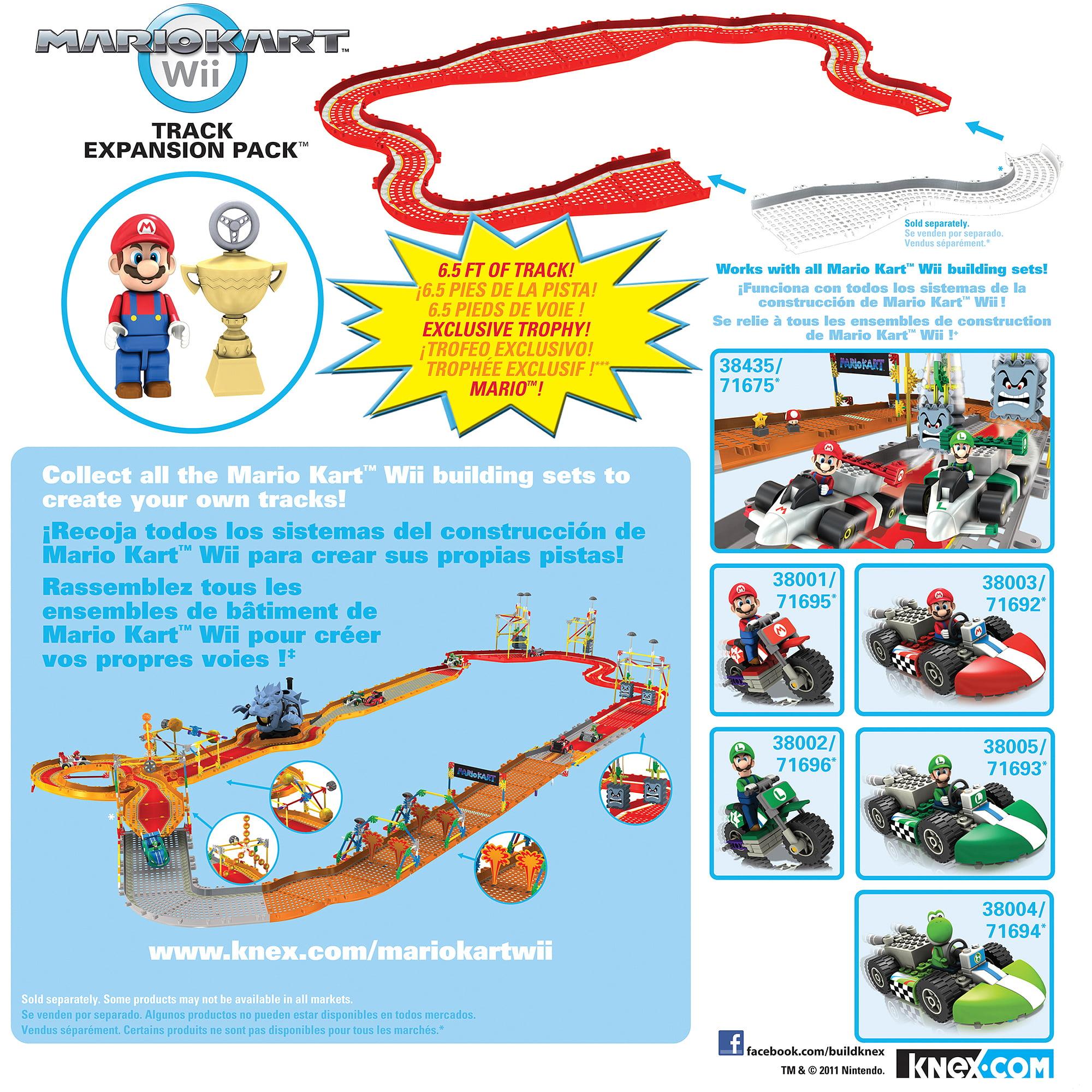 K Nex Mario Kart Wii Building Set Track Walmart Com Walmart Com