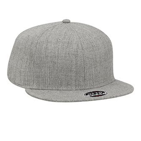 Otto Cap Heather Wool Blend Flat Visor Pro Style Snapback Caps - Hat / Cap for Summer, Sports, Picnic, Casual wear and Reunion etc