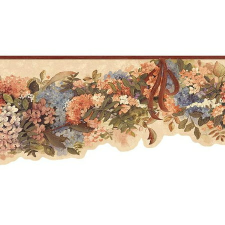 Signs Die Cut Wall Border - Hydrangea Die Cut Wallpaper Border, Wallpaper Border is 6.5 high and 15 feet long (4,57 m). Wall border has 20.5 inches pattern repeat. By Blonder From USA