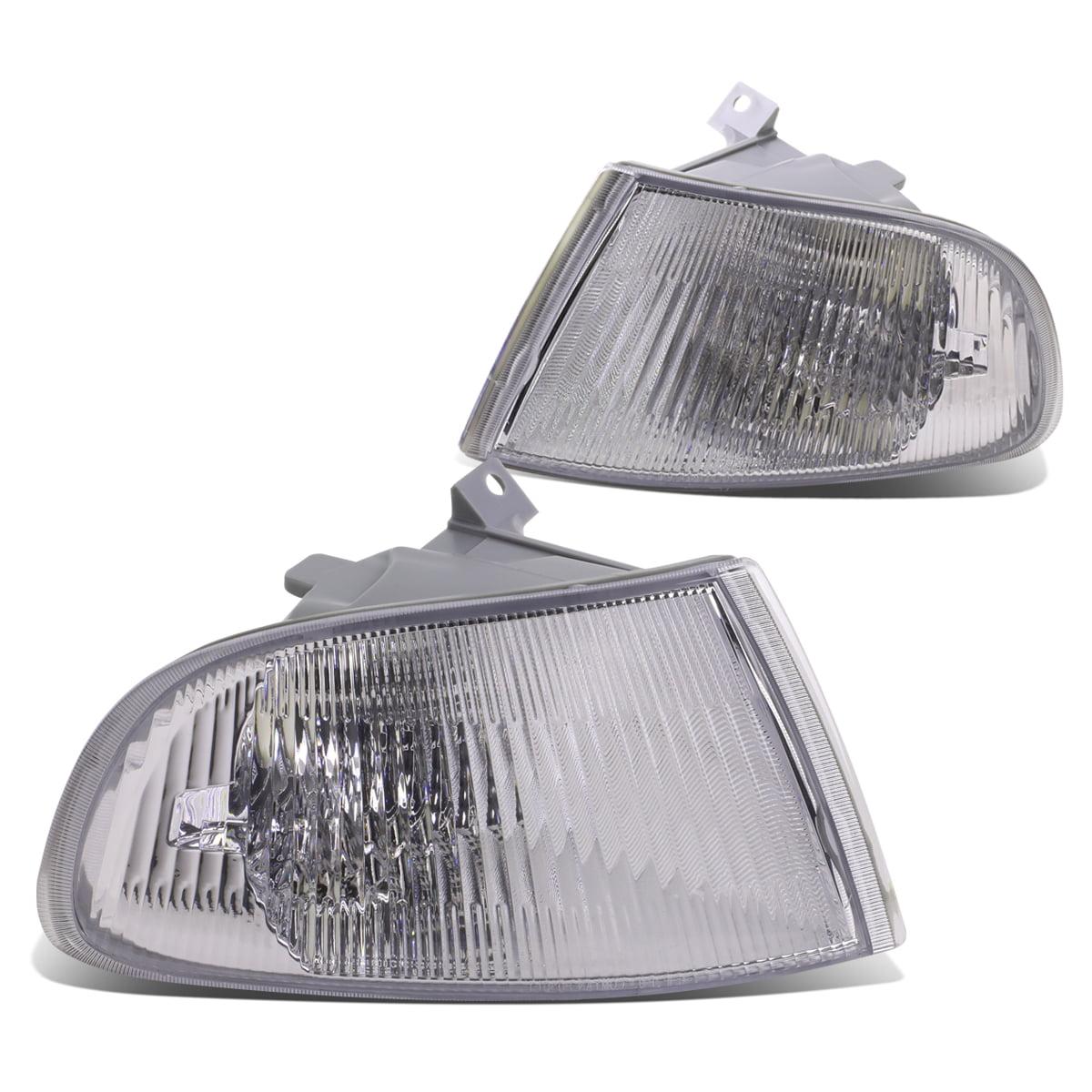 For 92-95 Honda Civic 4-Door EG8 EG9 EH9 Pair of Corner Light Lamp With Bulbs - Chrome Housing 93 94