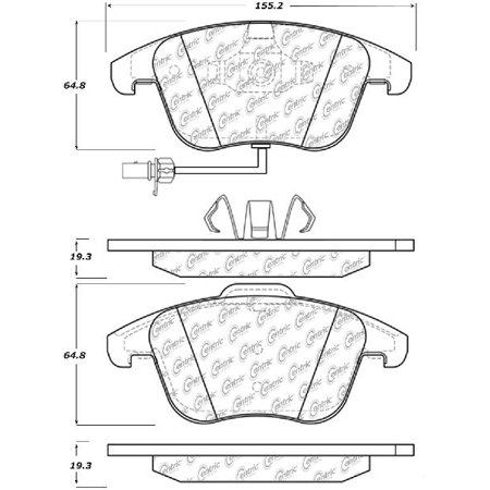 Go-Parts OE Replacement for 2010-2012 Audi A5 Quattro Front Disc Brake Pad Set for Audi A5 (A5 Muzzle Brake)