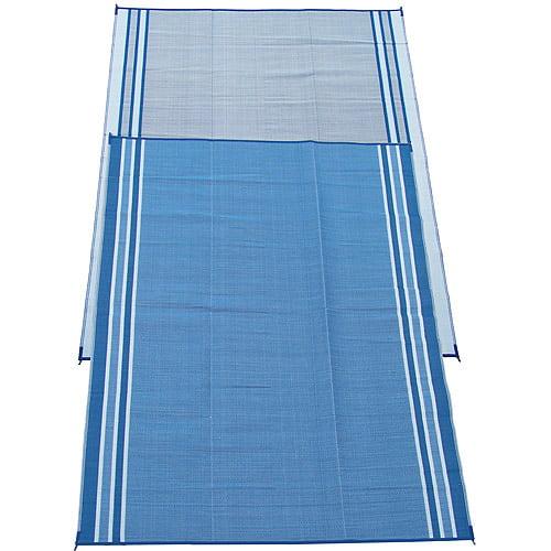 Fireside Patio Mats Patio/RV Mat, 9' x 12', Hawaiian Blue