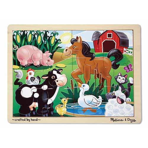 Jigsaw Puzzle 12 Piece On the Farm by Melissa & Doug