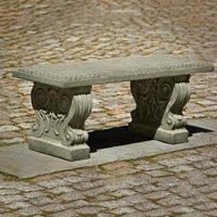 Classic Cast Stone Outdoor Garden Bench