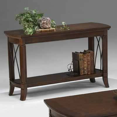 Bernards Cathedral Cherry with Metal Console Table