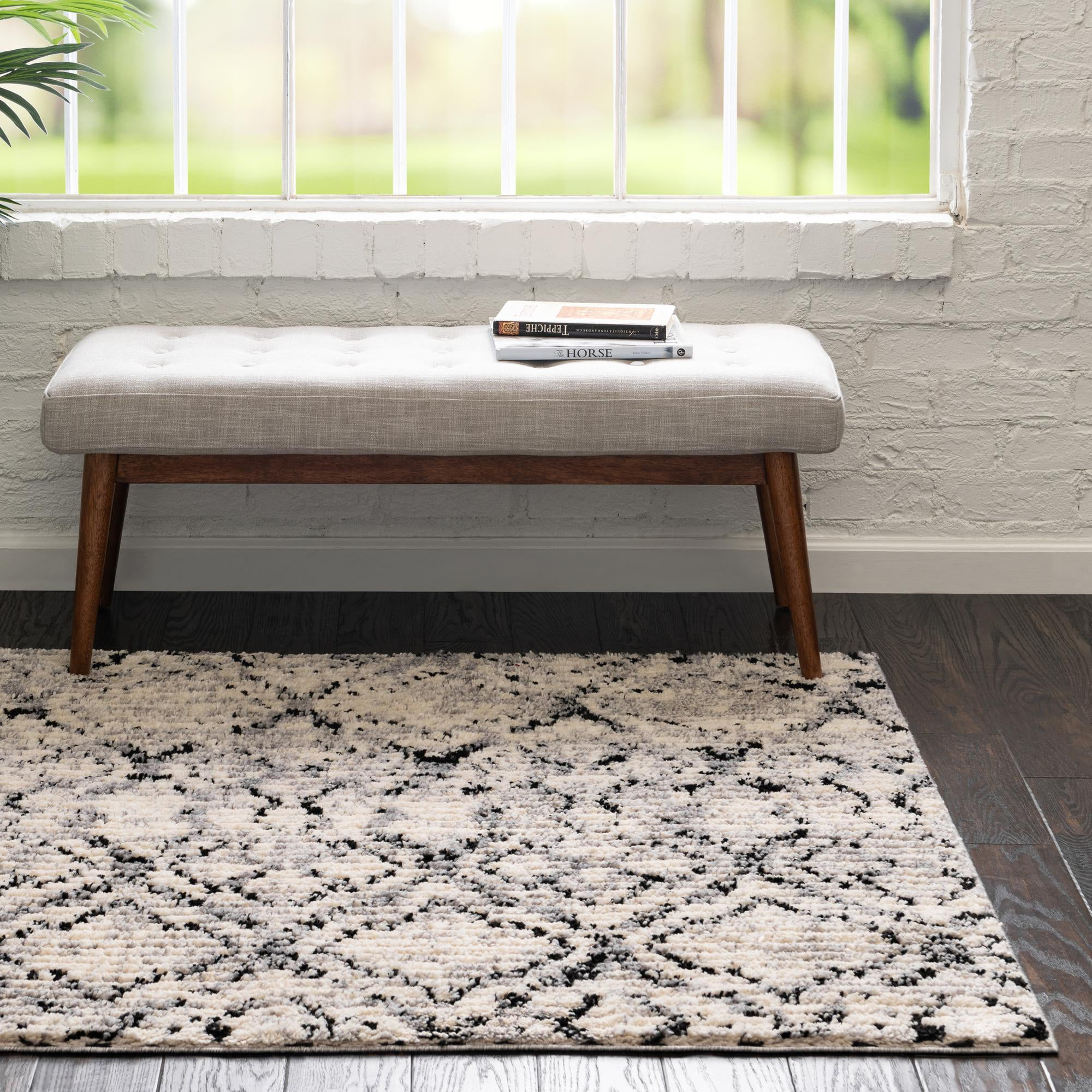 Rugs Com Tucson Collection Rug 4 Ft Square Ivory Low Rug Perfect For Living Rooms Kitchens Entryways Walmart Com Walmart Com