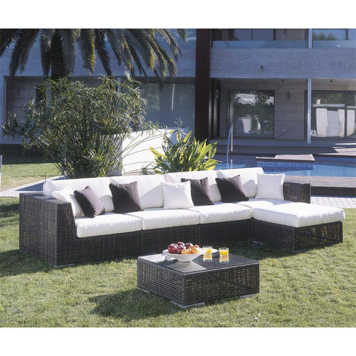 Hospitality Rattan Soho 6 Piece Deep Seating Group with Cushions