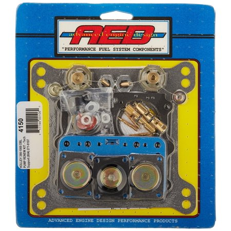 01 Multifunction Color Display - 4150 Ultimate Holley Double Pumper Carburetor Kit, Kits are attractively skin packaged in multi color layouts for a great point of purchase display By AED