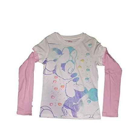 Minnie Mouse Custom Shirts ([P] Disney Girls' Minnie Mouse Agent Long Sleeve Fashion Top T Shirt)