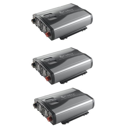 Cobra 1500W 12V DC to 120V AC Car Power Inverter, 3 Outlets and USB (3 (Cobra 1,500w Power Inverter)