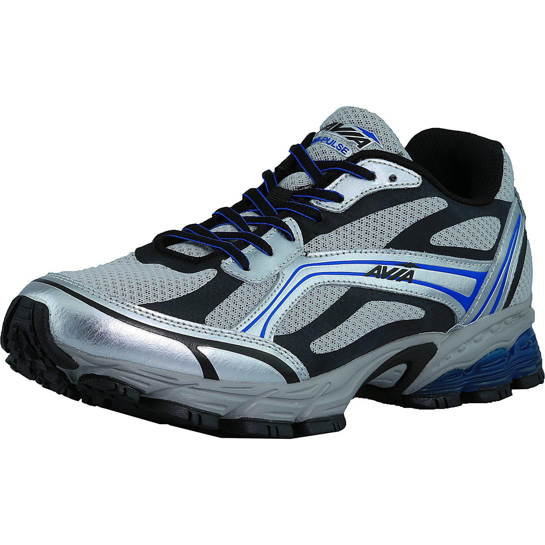 Avia Men's Avi-Pulse Black   Medium Blue Dark Grey Ankle-High Running Shoe 11.5M by Avia