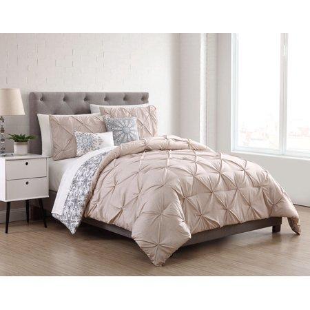 9 Piece Sherilyn Ivory/Tan Reversible w/Cotton Sheets Comforter (Croscill Salida Brown 4 Piece Comforter Set)