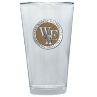 """Wake Forest Demon Deacons """"WF"""" Colored Logo Pint Glass"""