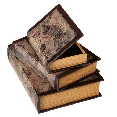 Darby home co restrepo 3 piece antique world map book decorative box darby home co restrepo 3 piece antique world map book decorative box gumiabroncs Image collections