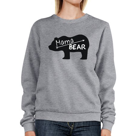 Mama Bear Gray Unisex Sweatshirt Unique Mothers Day Gift - Mother Day Craft Ideas