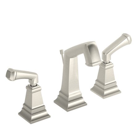Oxford Widespread 2-Handle Bathroom Faucet with Drain Assembly in Satin Nickel (2.2 GPM)