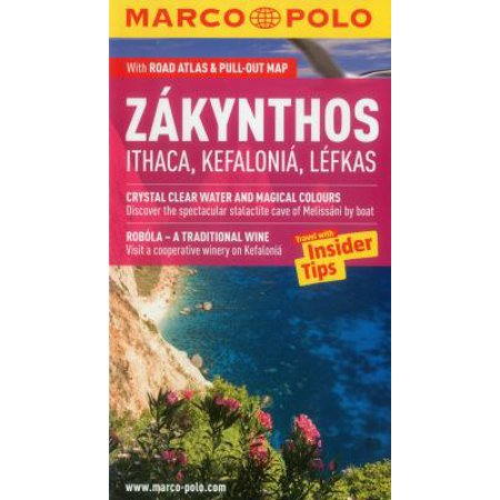 Marco Polo Zakynthos Ithaca  Kefalonia  Lefkas  Greece  With Road Atlas   Pull Out Map