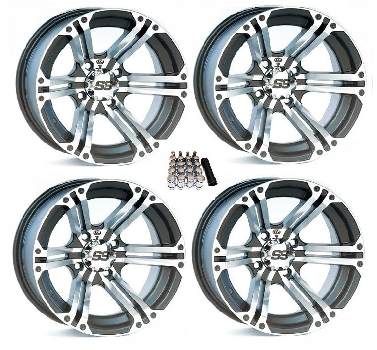 """4 ITP SS212 UTV Wheels//Rims Black 12/"""" Polaris Ranger 900 XP"""