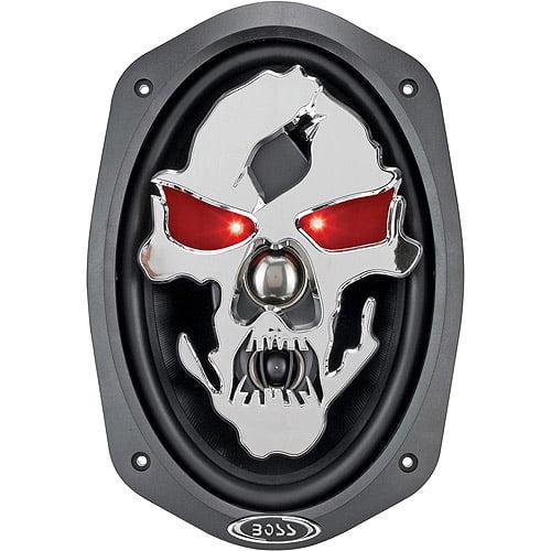 """Boss Audio Audio SK693 - PHANTOM SKULL 600 Watt 6"""" x 9"""" 3-Way, Car Speakers (Pair of Speakers)"""
