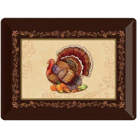 Creative Converting Turkey Plastic Tray