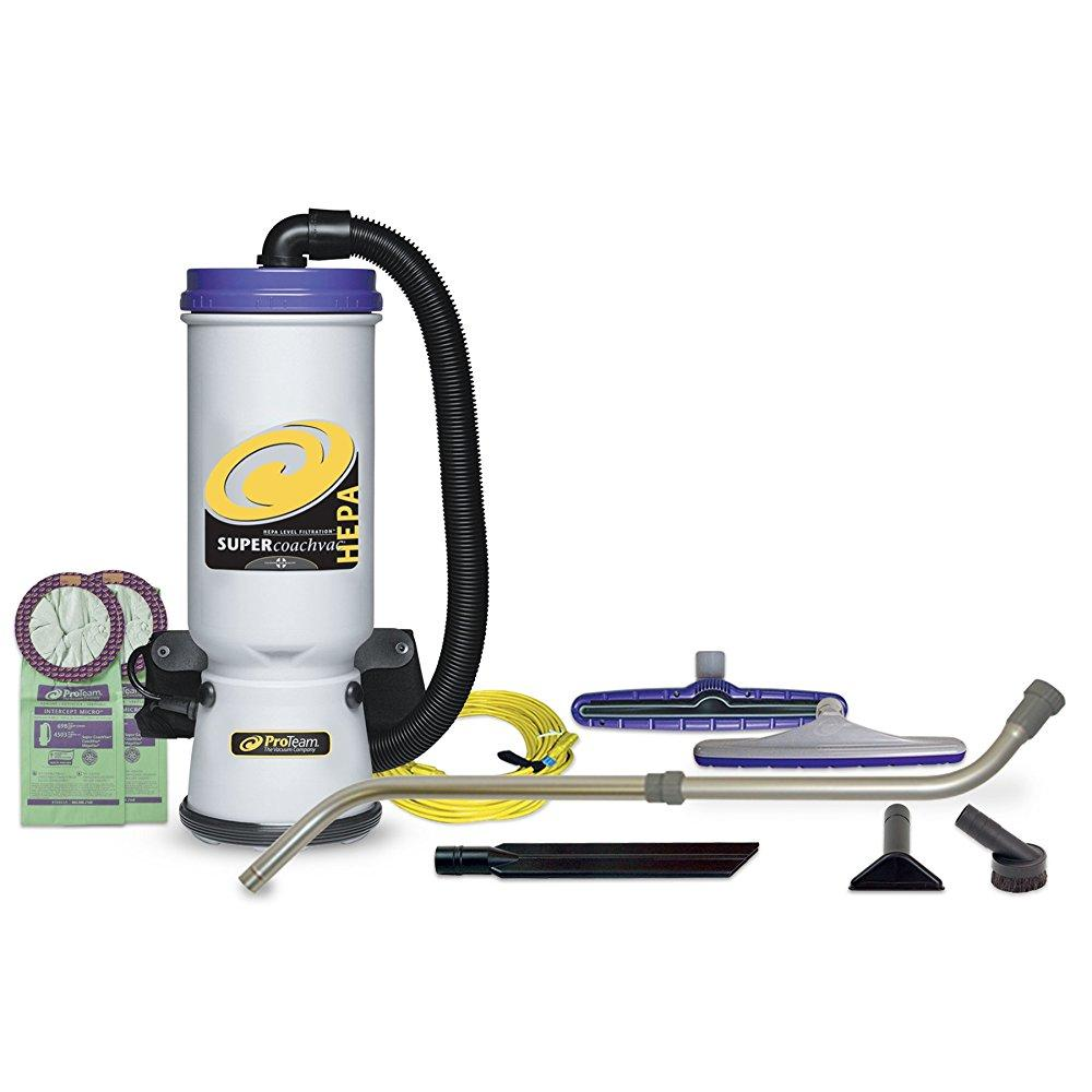 ProTeam backpack vacuums super coachvac hepa commercial b...