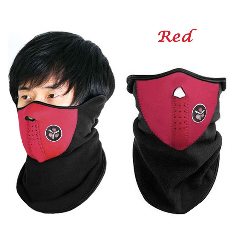 Qiilu Ski Mask Anti Dust Pollution Smoke Mouth Mas Windproof Mask Neck Cover Half Face Mask for Motorcycles Bicycle Skiing Running Mountain Climbing