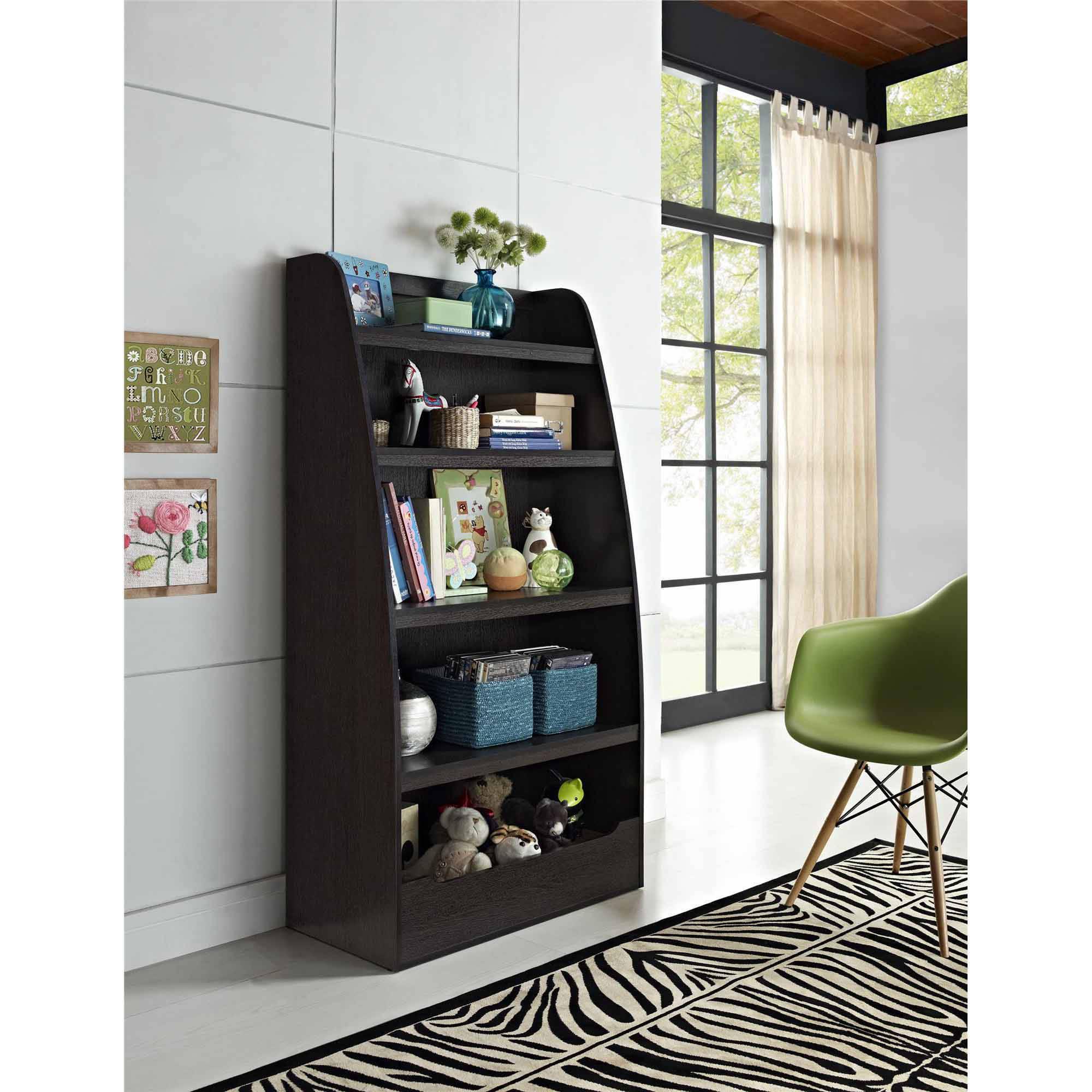 Mia Kids' 4-Shelf Bookcase, Multiple Colors