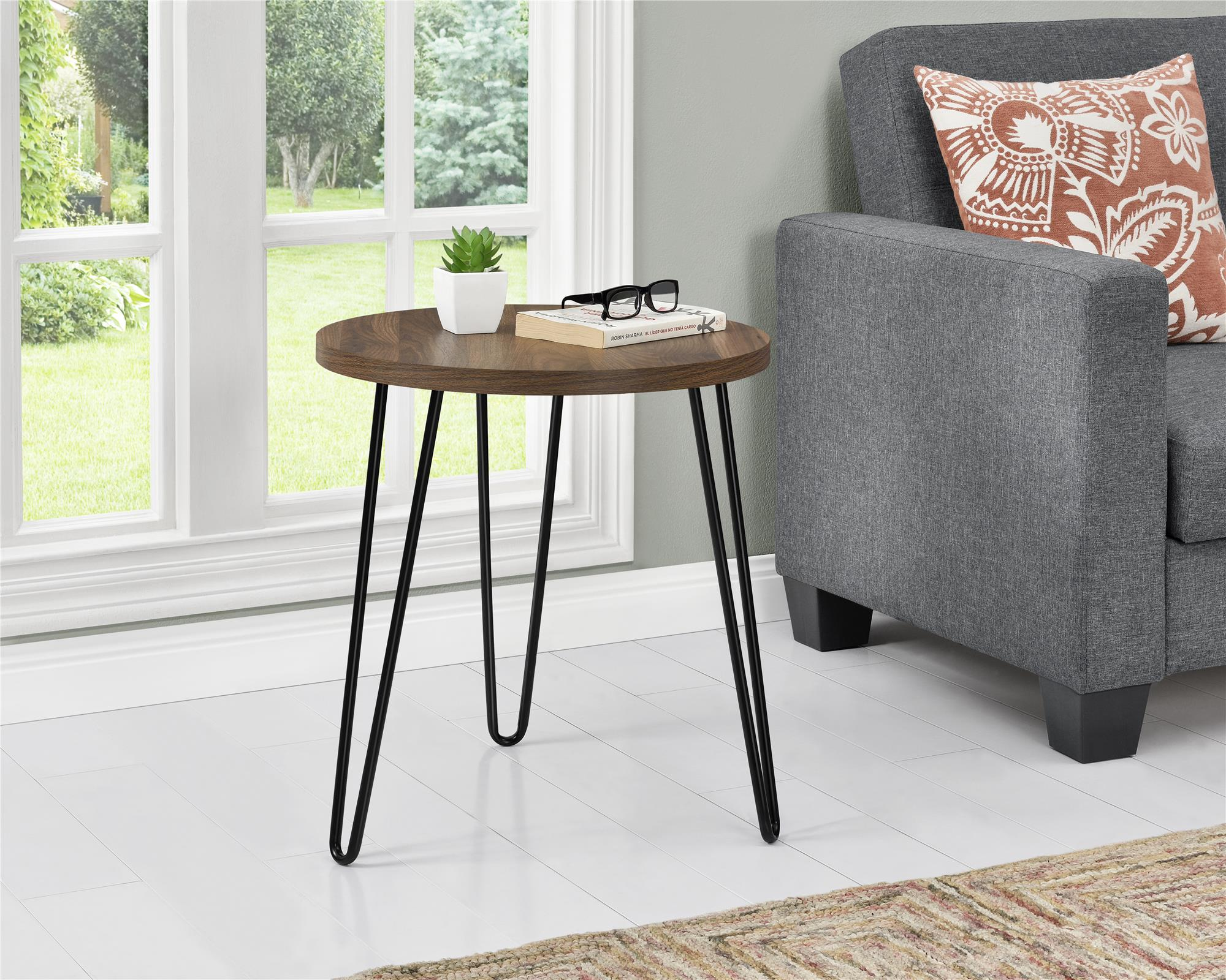 e1048f7d0af Ameriwood Home Owen Retro Round End Table