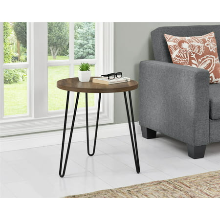 Ameriwood Home Owen Retro Round End Table, Multiple Colors - Decorator Round Table