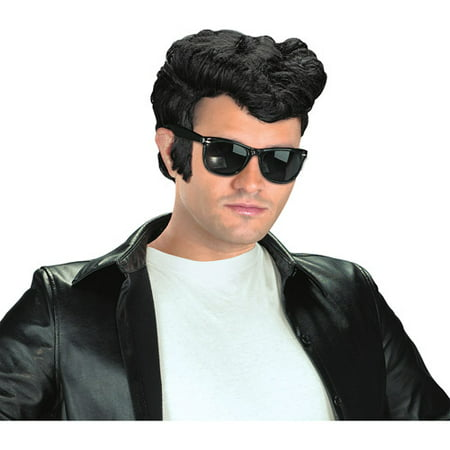 50s Greaser Wig (Black Greaser Wig Adult Halloween Accessory )
