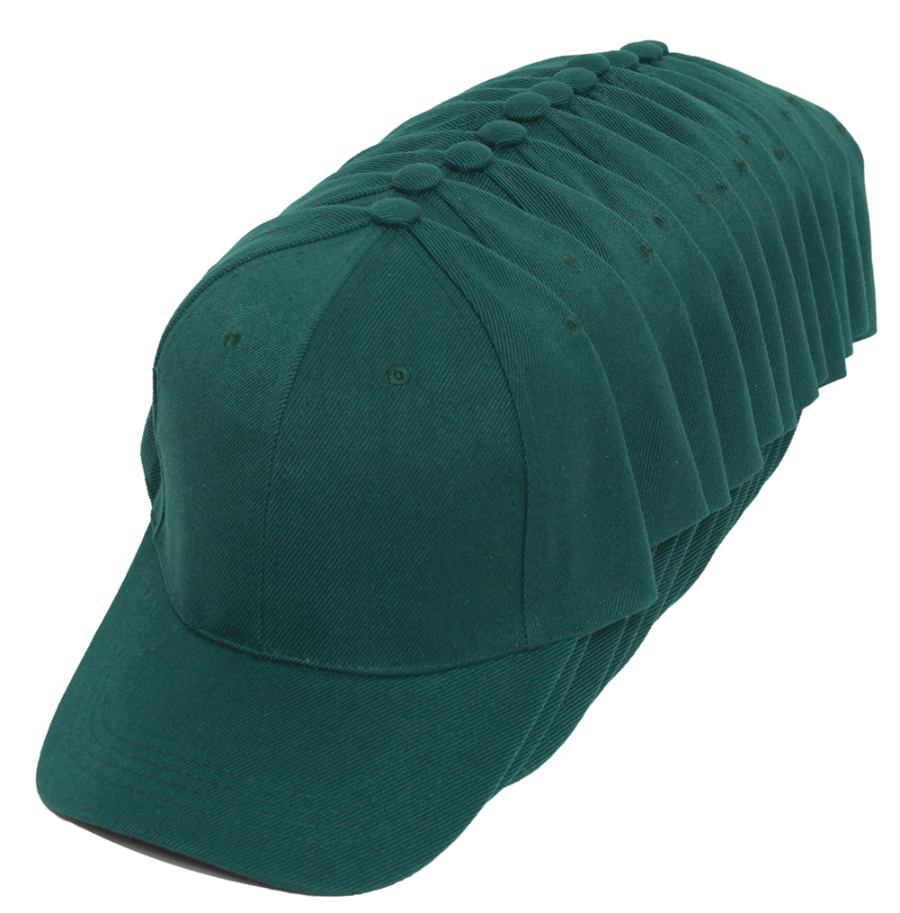 Top Headwear Blank Adjustable Baseball Cap - 12-Pack
