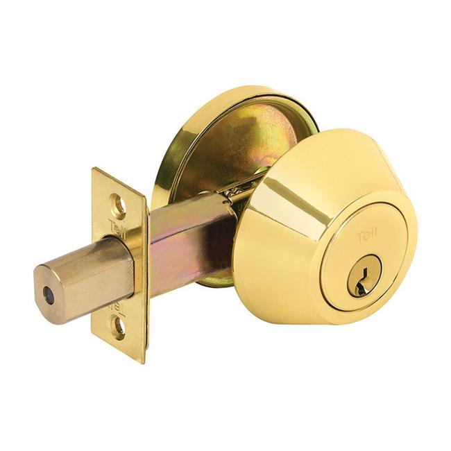 Tell Manufacturing 5005866 Bright Brass Metal Single Cylinder Deadbolt