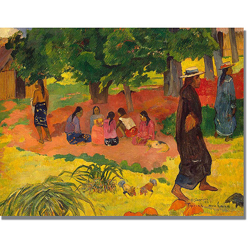 "Trademark Fine Art ""Taperaa Mahana"" Canvas Art by Paul Gauguin"