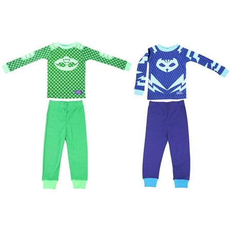 Disney PJ Masks Toddler Gekko Catboy 2 Cotton Sleepwear Set](Toddler Pj)