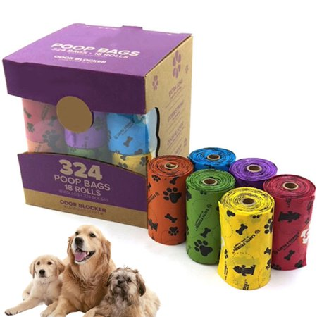 Dog Waste Poop Bags 324count Leak-Proof Doggy Bag Extra Thick and Strong