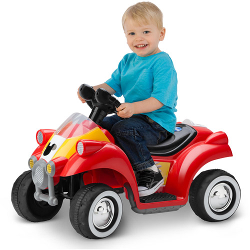 Kid Trax Disney Mickey Mouse Hot Rod Quad 6V Battery-Powered Ride-On by Pacific Cycle