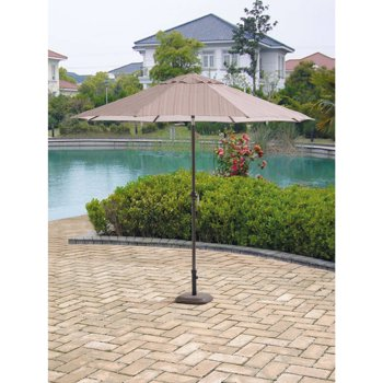 Courtyard Creations 9 Foot Poly Umbrella