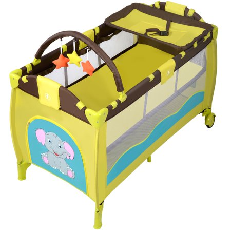 Baby Crib Playpen Playard Pack Travel Infant Bassinet Bed ...