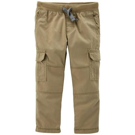 Carter Uniform - Carters Toddler Boys Solid Reinforced Cargo Pants 2T Khaki