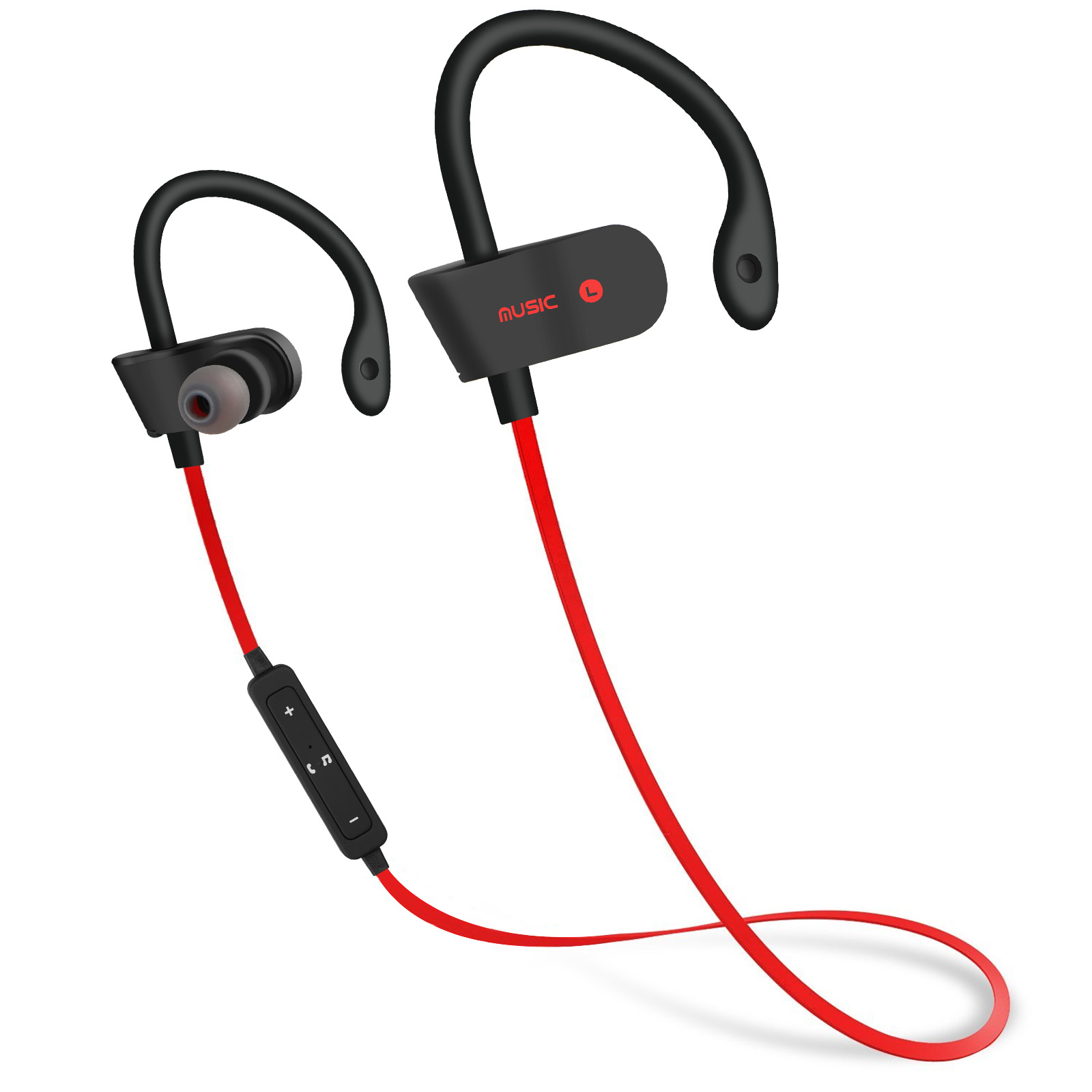 Bluetooth Headphones, TSV Best Wireless Sports Earphones w/ Mic HD Stereo Sweatproof In Ear Earbuds for Gym Running Workout 5 Hour Battery Noise Cancelling Headsets
